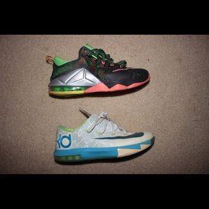 2 Sneaker Lot- Lebron 12 Lows & KD 6